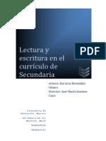 LECTURA Y ESCRITURA EN EL CURRÍCULO DE SECUNDARIA