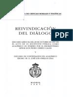 REIVINDICACIÓN  DEL  DIÁLOGO