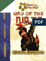 [Ninjutsu] L5R - Way of the Ninja