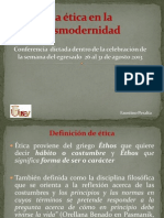 Conferencia Etica Postmoderna