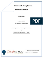 certificate of completion for first aid full course