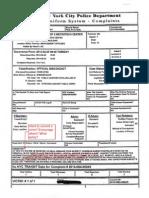 NYPD Complaint Against Francesco Portelos