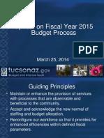 Tucson city budget presentation, 3-25-14