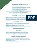 CONSTITUCIÓN POLITICA DEL ESTADO DE 1834