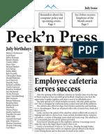 Peek'n Press July Issue