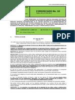 No. 10 Comunicado 26 y 27 de Marzo de 2014
