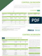 Control de Erosion Agromanto Pavco