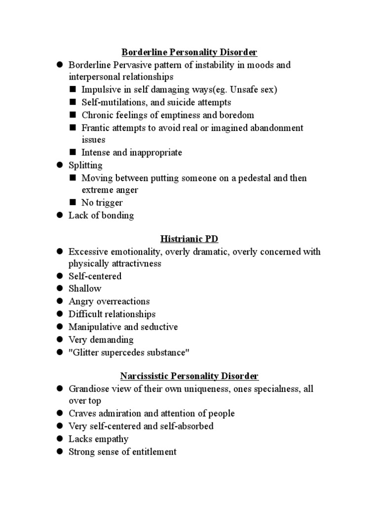 Borderline personality disorder unsafe sex