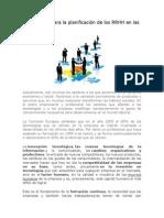 Metodología para la planificación de los RRHH en las empresas