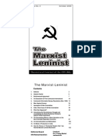 The Marxist Leninist, Oct 2009