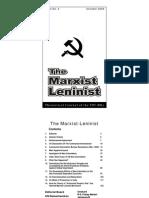 The Marxist Leninist, Oct 2009