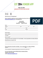 Vendor Application 2014