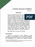 Fertilizer Demand in Pakistan