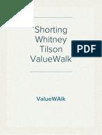 Shorting Whitney Tilson ValueWalk