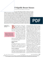 Evaluation of palpable breast masses