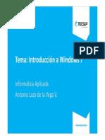 01 Introducción a Windows 7