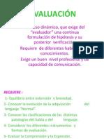 EVALUACIÓN y LINEAMIENTOS TERAPÉUTICOS