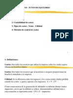 Pto de Equilibrio Tema_costos