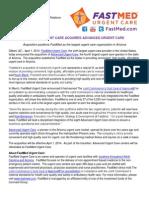 FASTMED URGENT CARE ACQUIRES ADVANCED URGENT CARE