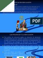 POLÍTICAS DE EDUCACIÓN2