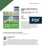 Analisis y Gestion de Datos Con Excel by Blade