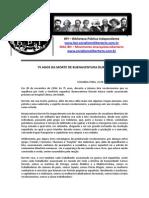 75 Anos Da Morte de Buenaventura Durruti