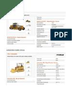 Especificacines Tecnicas de Maquinaria Pesada