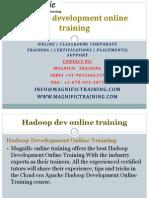Hadoop Development Online Training