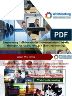 WhizMeeting- Unfied Conferencing Solutions