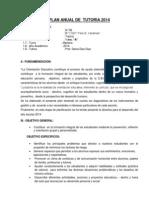 Plan Anual de Tutoria 2014