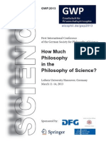 How Much Philosophy in the Philosophy of Science?