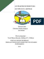 Laporan Praktikum Sementara Tipe Data Abstrak