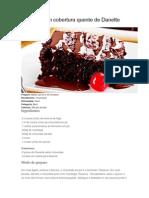 Brownie Com Cobertura Quente de Danette