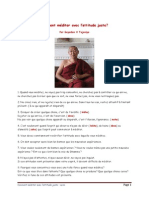 Comment méditer avec l_attitude juste