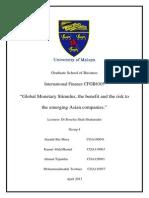 Global Monetary Stimulus