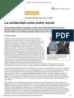 Página_12 __ espectaculos __ La solidaridad como motor social