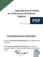 Normas de Seguridad Para El Trabajo en ElLAb Organica I-2012