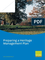 Preparing a Heritage Managment Plan