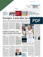 Urbino apre il consiglio comunale a uno studente universitario - Il Messaggero del 1 aprile 2014