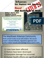 Mayflower, Arkansas Pegasus Pipeline Rupture and Response Community Based Environmental Activism at Risk	by Emily L. Harris, MPH