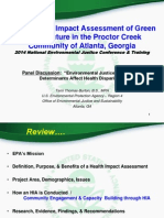 EPA's Health Impact Assessment of Green Infrastructure in the Proctor Creek Community of Atlanta, Georgia by Tami Thomas-Burton, B.S., MPH