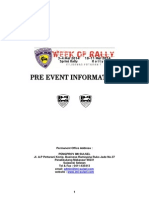 Pre Event Information Week of Rally (Update 2414)