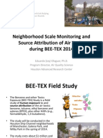 Neighborhood Scale Monitoring and Source Attribution of Air Toxics during BEE-TEX 2014 by Eduardo (Jay) Olague