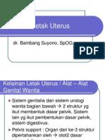 Kelainan Letak Uterus