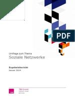 """TNS Emnid Studie """"Soziale Netzwerke"""""""