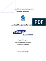 Samsung Electronics Management Analysis