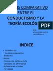 ANÁLISIS COMPARATIVO ENTRE EL CONDUCTISMO Y LA TEORÍA ECOLÓGICA