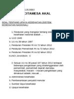 Soal Latihan IKM 10 nomor FK UNDANA SKN