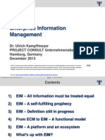 EIM Enterprise Information Management | Ulrich Kampffmeyer | 2013 | English