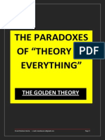 The Paradoxes of Theory of Everything
